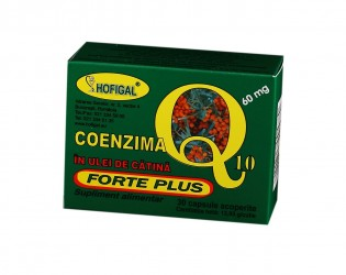 Coenzima Q10 in Ulei de Catina 60mg Forte Plus Hofigal