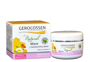 Crema Anticearcan-Antirid Natural cu Miere 30ml ( cu miere,cafeina si ceai verde) Gerocossen