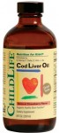 Cod Liver Oil 237ml (gust de capsuni) Secom